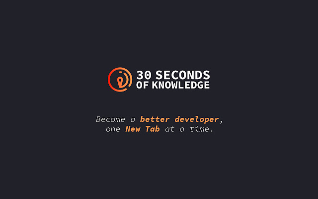 30 Seconds of Knowledge