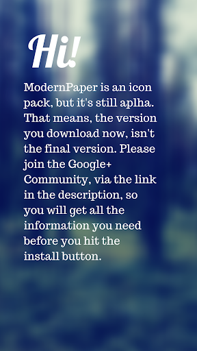 ModernPaper Alpha - Icon Pack
