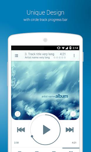 NRG Player music player- screenshot thumbnail