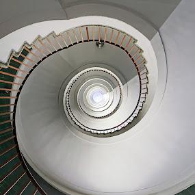 Spiral by Jernej Lah - Buildings & Architecture Other Interior ( railing, stairs, stairway, slovenija, uwa, slovenia, ljubljana, spiral, nebotičnik )