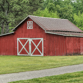 Ol Red Barn by Karen Carter Goforth - Uncategorized All Uncategorized ( red, barn, farm, building, structure,  )