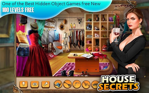 100 levels hidden objects free Secret House - náhled