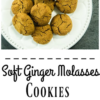 Soft Ginger Molasses Cookies (Gluten Free).