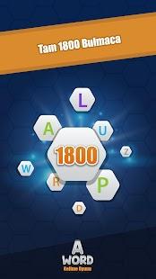 A Word Kelime Oyunu (Türkçe) Screenshot