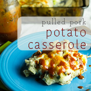 Pulled Pork Potato Casserole.