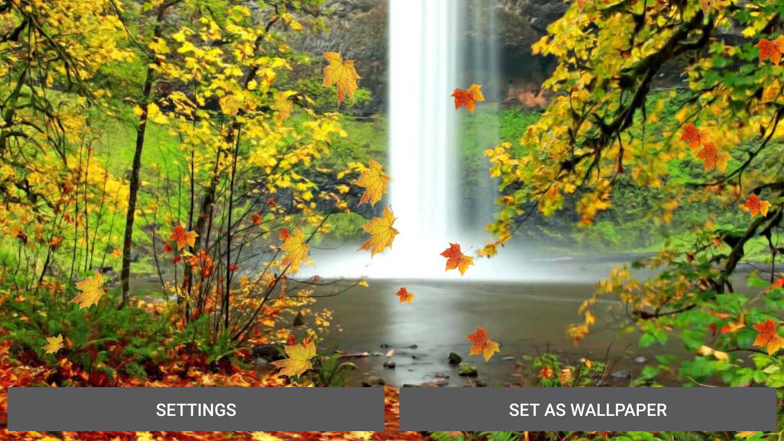 autumn waterfall wallpaper android apps on google play