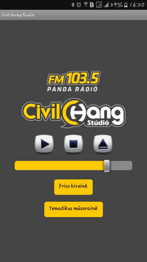 Civil Hang Rádió- screenshot