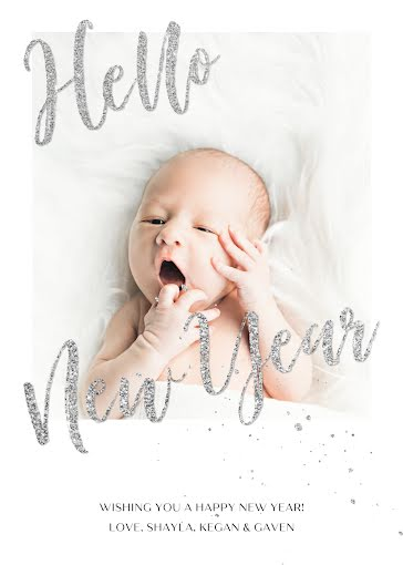 Gaven's Birth Announcement - New Baby Announcement template
