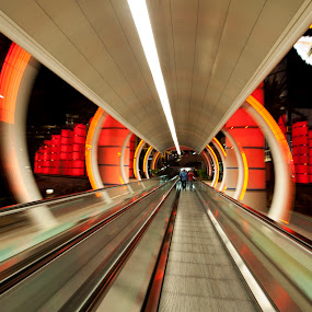by Anna Stephens - Buildings & Architecture Other Interior ( las vegas, nevada, moving walkway, ballys )
