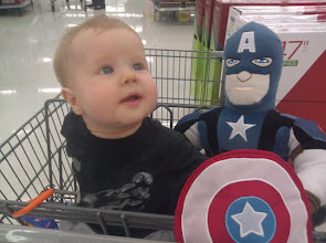 Photo: Corbin wanted to stay in the cart with his new friend. They were cruising around together.