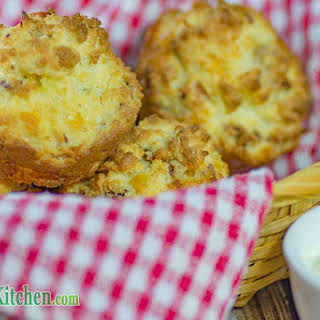 Low Carb Bacon and Sour Cream Muffins.