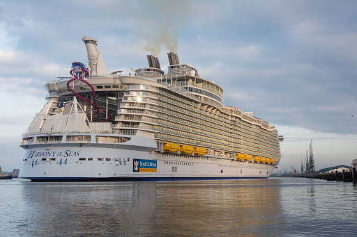 harmony-of-the-seas-aft.jpg - A look at the aft of Harmony of the Seas, the world's largest cruise ship, launched in May 2016.