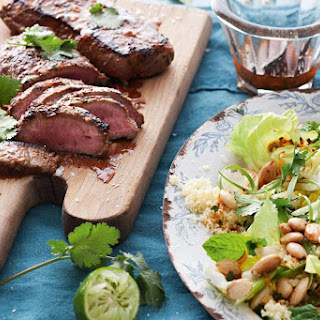 Lamb Backstraps with Moroccan Salad Recipe