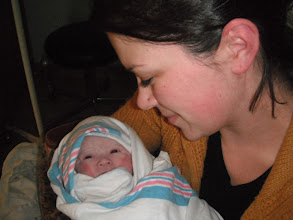 Photo: Auntie Tara meets Audrey for the first time.