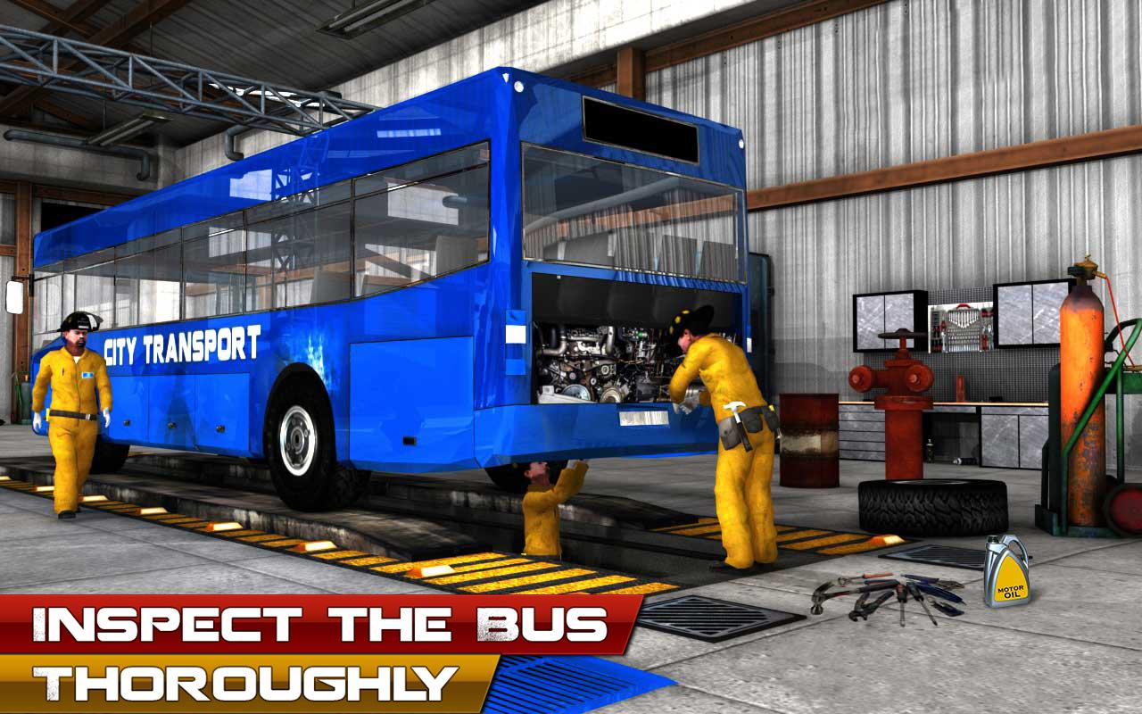 Bus mechanic auto repair shop car garage simulator for Garage reparation auto
