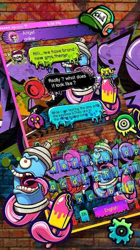 Street Graffiti SMS Keyboard 10001006 screenshots 1
