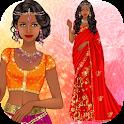 Indian Sari dress up icon