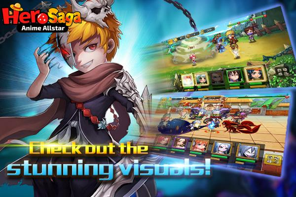 android Hero Saga - Anime Melee Game Screenshot 2