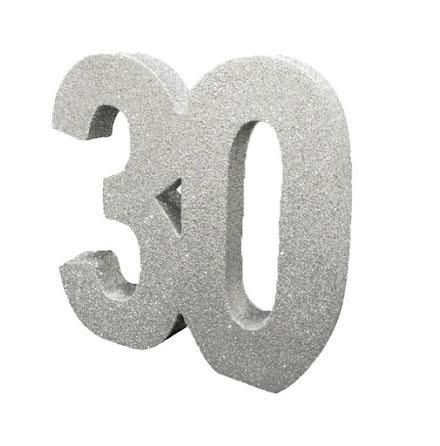 Bordsdekoration 30 silver