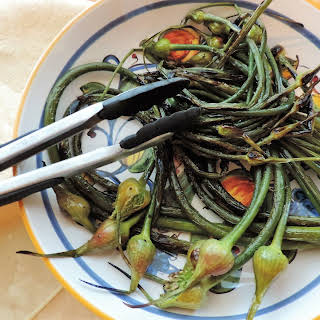 Grilled Garlic Scapes.