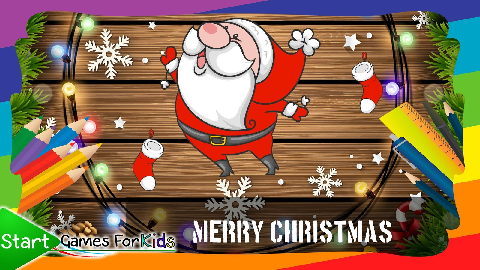 Christmas Coloring Book Game Screenshot