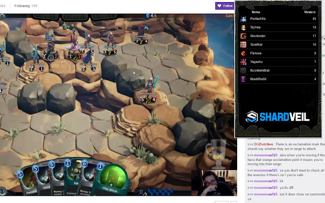 Shardbound Stream Browser