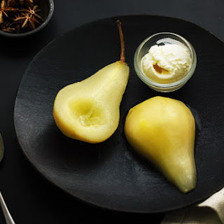 Pears With Anise And Ginger.