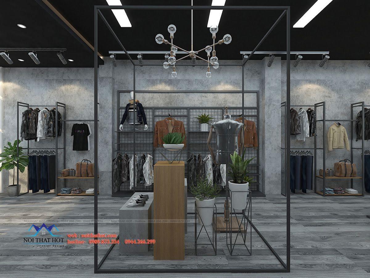 thiết kế shop thời trang nam polido 3