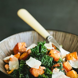 Kale Salad with Butternut Squash and Almonds Recipe