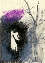 "Photo: 'Untitled,' 21cm x  29cm, 8"" x 11.5"", 2012, Moleskine folio Sketchbook, India and acrylic inks"