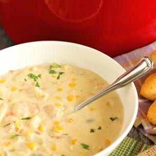 Creamy Shrimp & Corn Soup.
