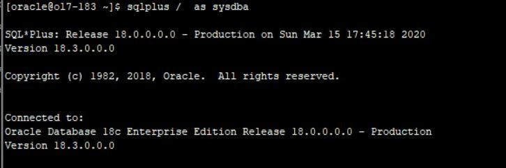 Xem trạng thái của Oracle Database