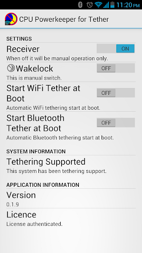 CPU Powerkeeper for Tether