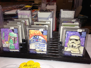 Photo: Some of Justin's cards that we had for sale at the booth.