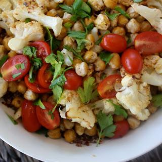 Crunchy Chickpea and Roasted Cauliflower Quinoa Salad.