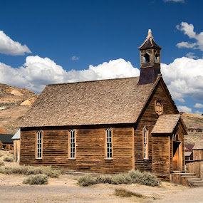 Ghost Town Church by Clyde Smith - Buildings & Architecture Public & Historical
