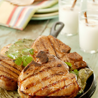 Chipotle-Lime Marinated Grilled Pork Chops.