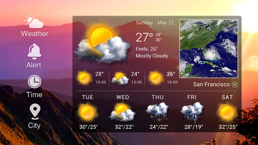 Real-time weather forecasts for PC