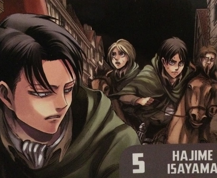 Attack on Titan Volume 5 Cover Detail