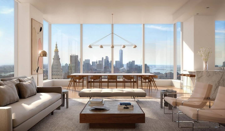 Appartement contemporain avec terrasse et piscine État de New York