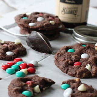 Hot Fudge Fire Works Cookies
