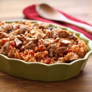 Chipotle Chicken and Rice (my version of Arroz con Pollo).