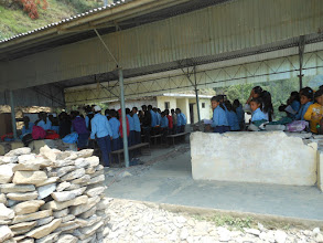 Photo: The Temporary Learning Centre constructed for Chilaune Secondary School