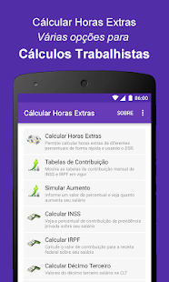 Calcular Horas Extras- screenshot thumbnail