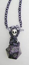 Photo: Displacer Beast Purple D20 Necklace
