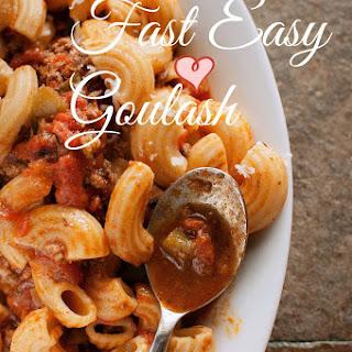 Fast Easy Goulash