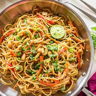 Vegetarian Thai Peanut Noodles.
