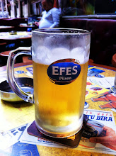 Photo: Enjoying a Turkish beer, Efes.
