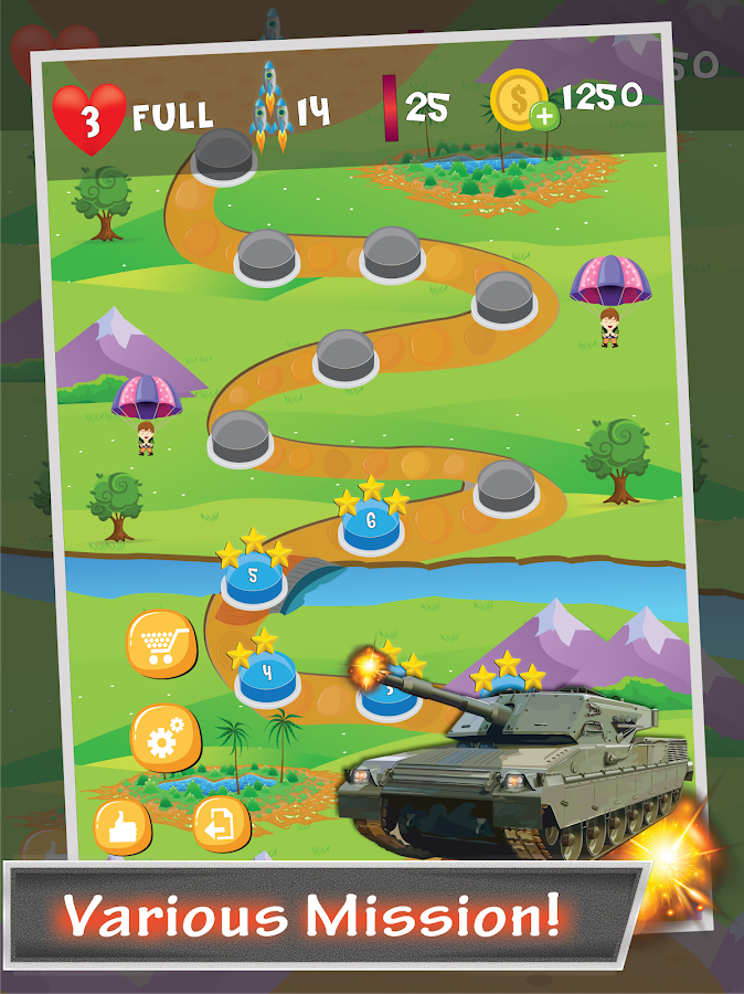 Tank Sky War- screenshot