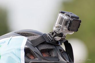 Photo: Helmcamera om ook tijdens de race te kunnen filmen.